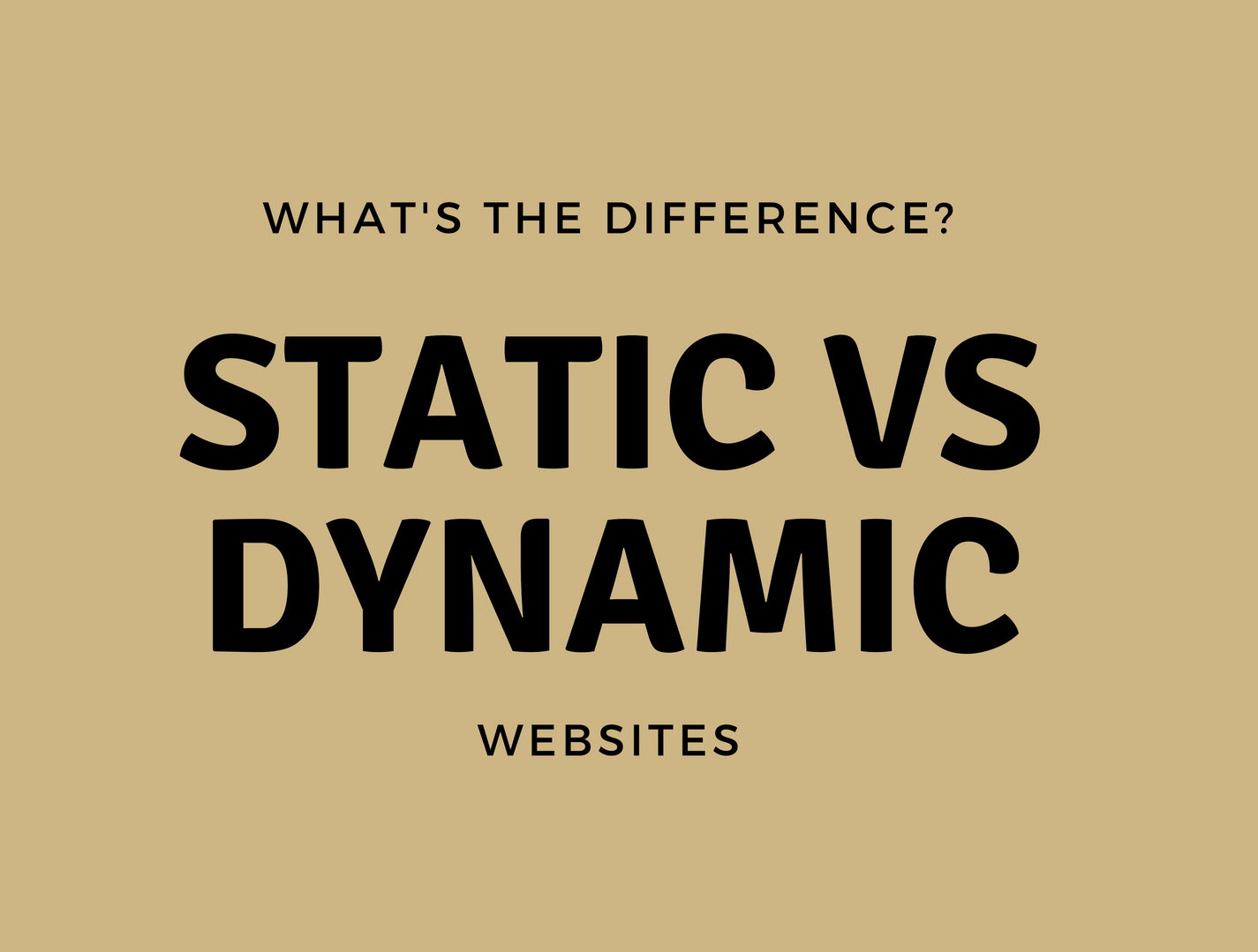 The Difference Between Static and Dynamic Websites
